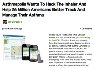 Asthmapolis TechCrunch Headline Apr 2013