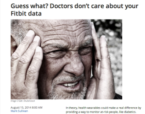 Doctors Dont Care About FitBit Data